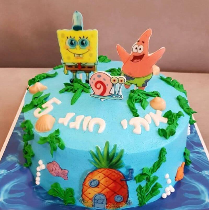 בוב ספוג עוגה מעוצבת