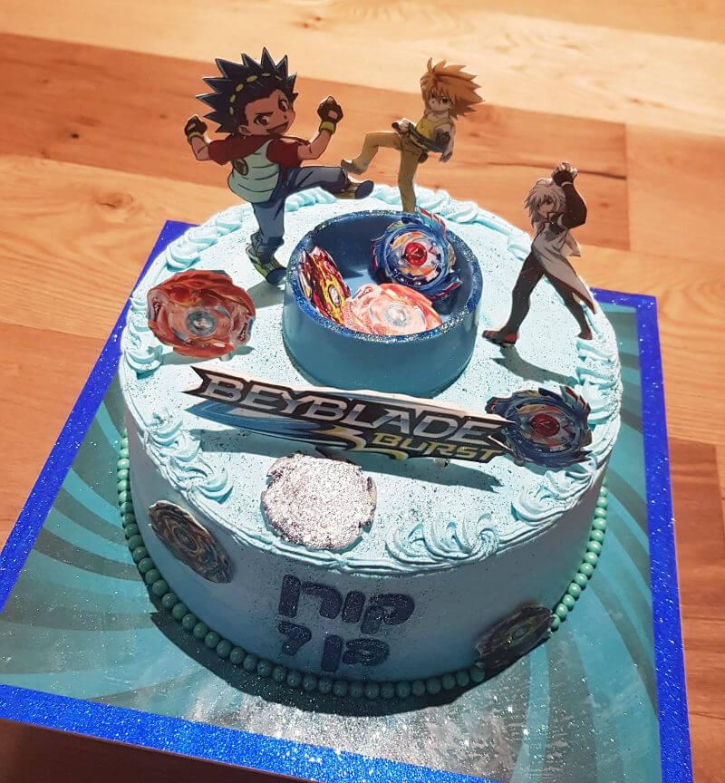 בייבלייד עוגה מעוצבת