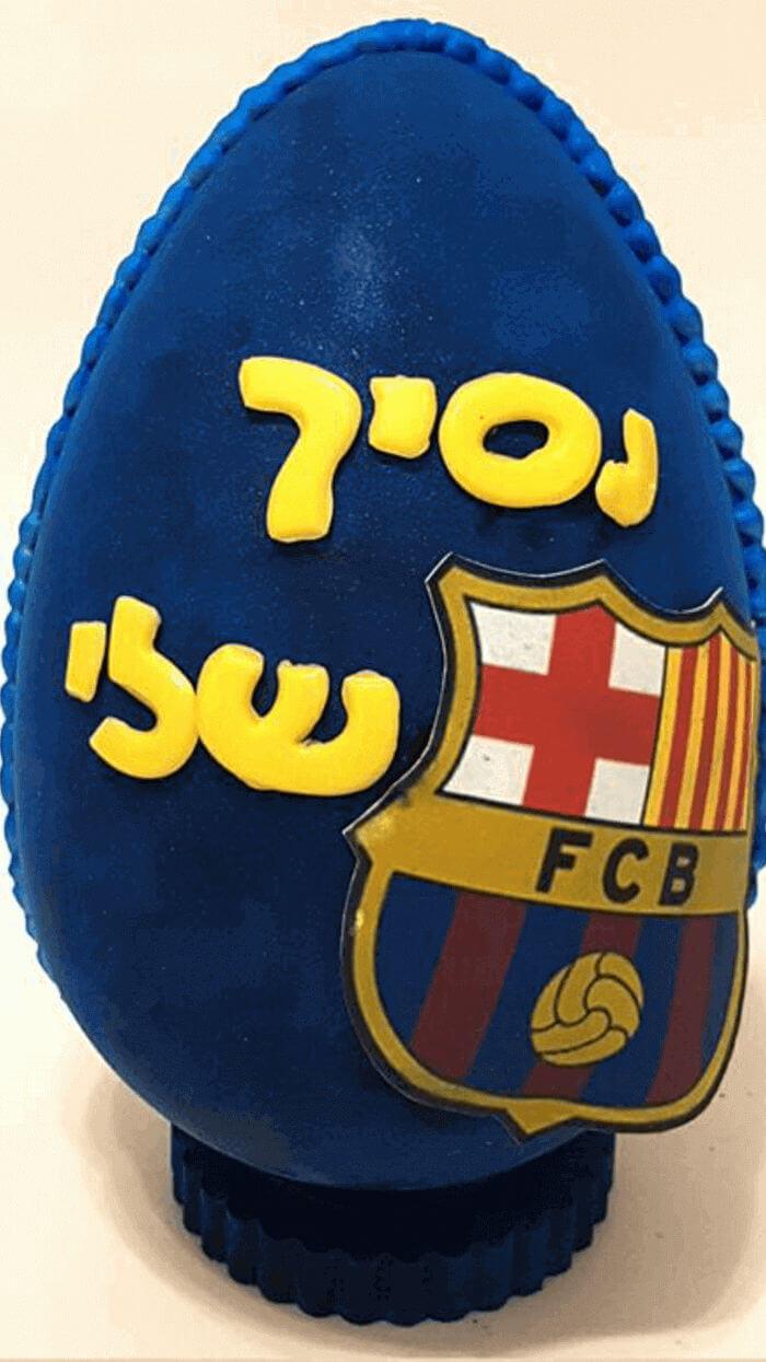 ביצת שוקולד כדורגל ברצלונה