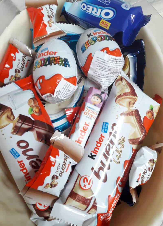 ביצת שוקולד מבפנים ממתקים