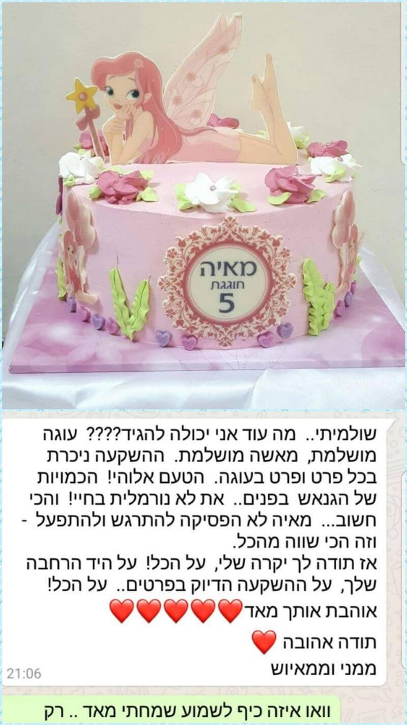 ביקורות מלקוחות לעוגה מושקעת