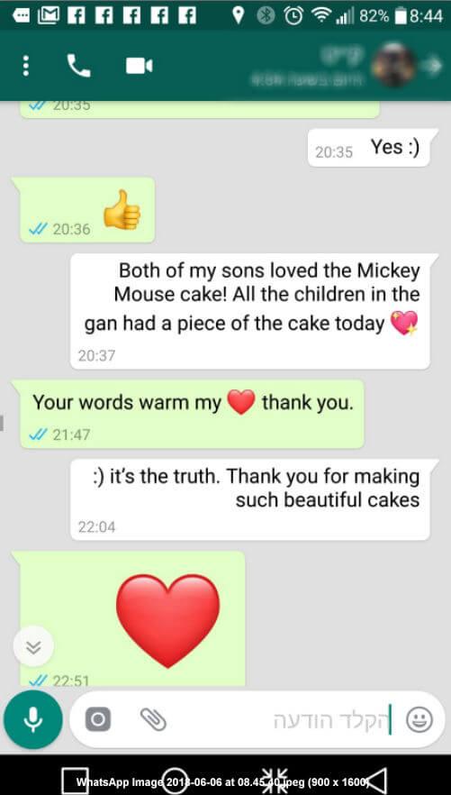 ביקורות מלקוחות לעוגת מיקי מאוס נהדרת