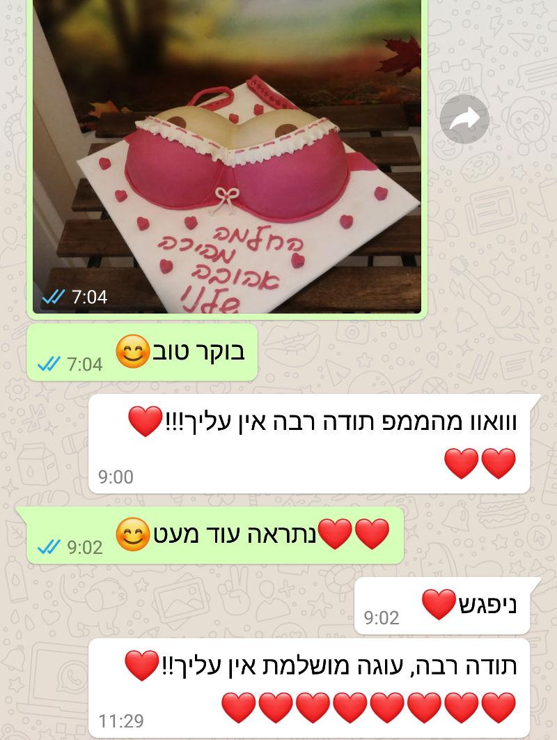 ביקורות מלקוחות לעוגה מושלמת ומהממת