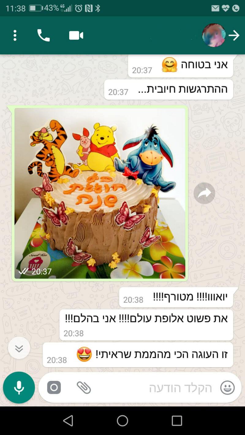 ביקורות מלקוחות לעוגה מהממת