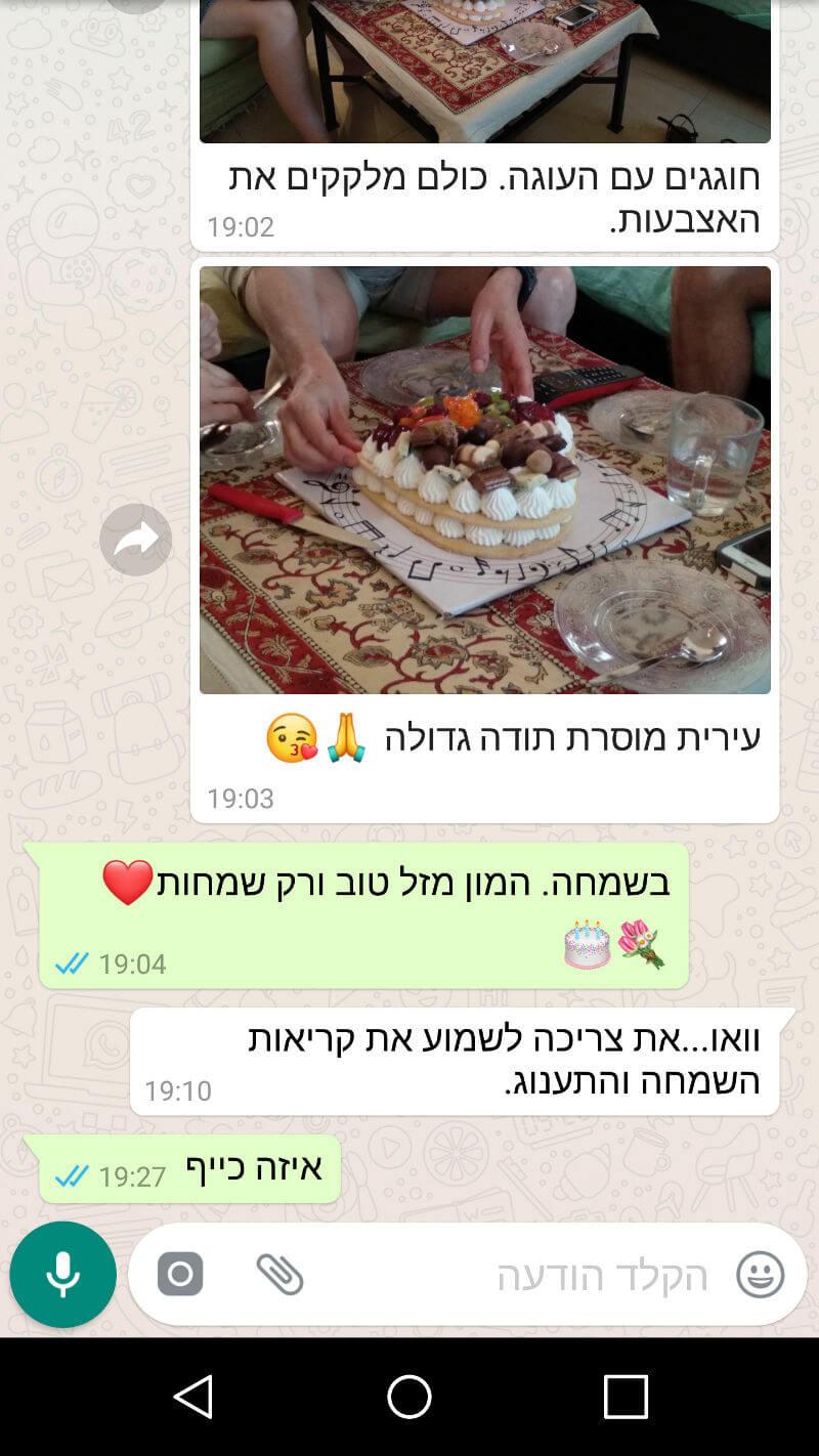 ביקורות מלקוחות לעוגה מדהימה