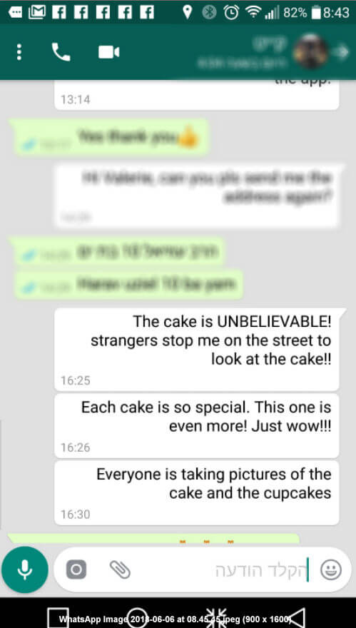 ביקורות מלקוחות לעוגה מיוחדת במינה