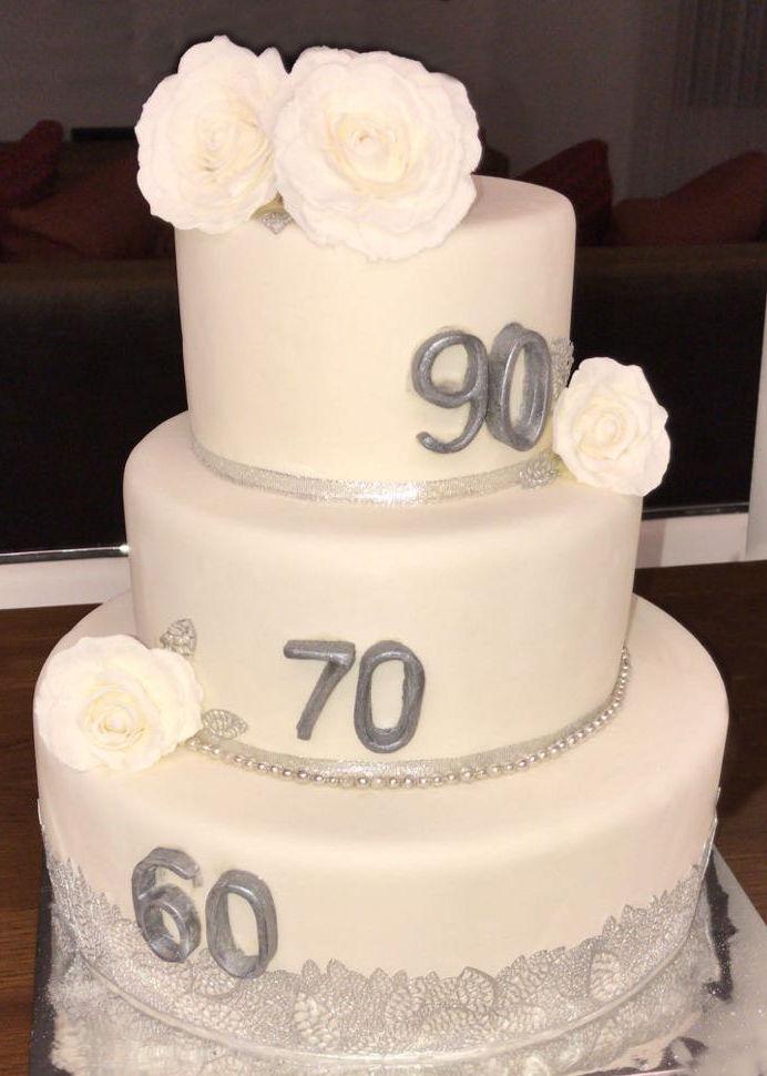 עוגת קומות לחגיגה משותפת מבצק סוכר