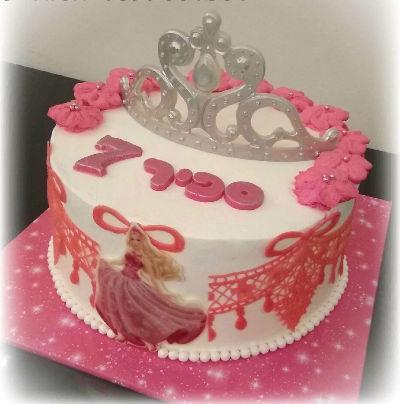 ברבי עוגת יום הולדת לבת