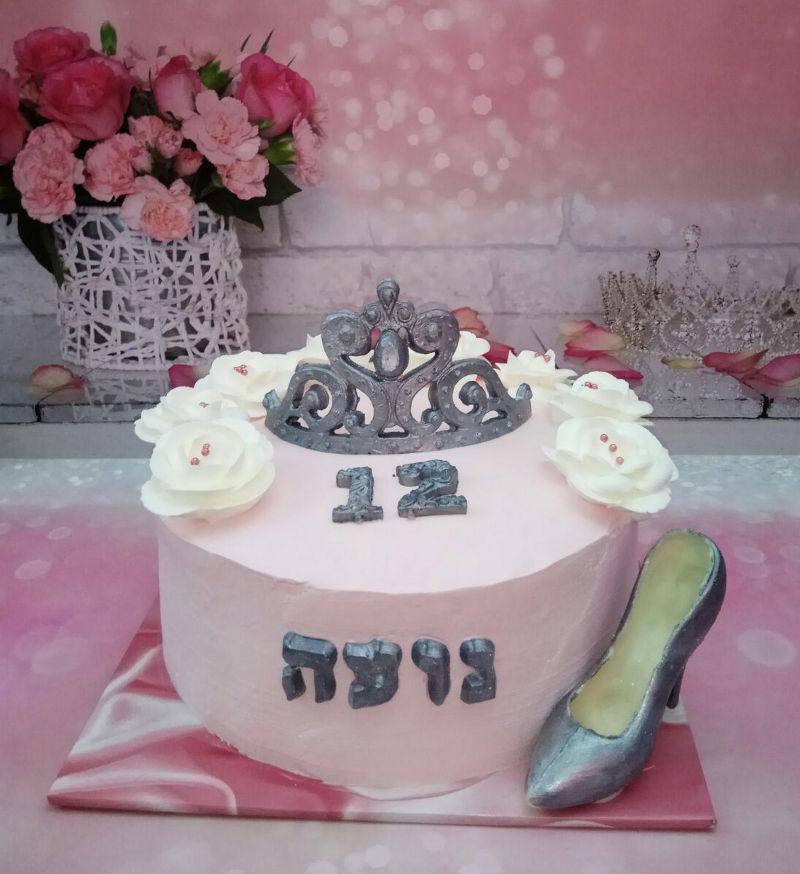 בת מצווה עוגת זילוף מעוצבת