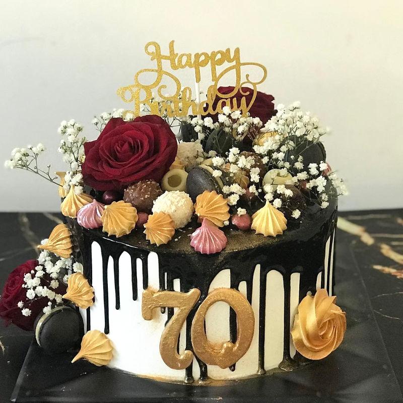 דריפ קייק -עוגת טפטופים לגיל 70