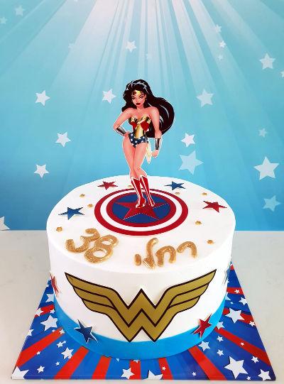 וונדר וומן עוגה מעוצבת