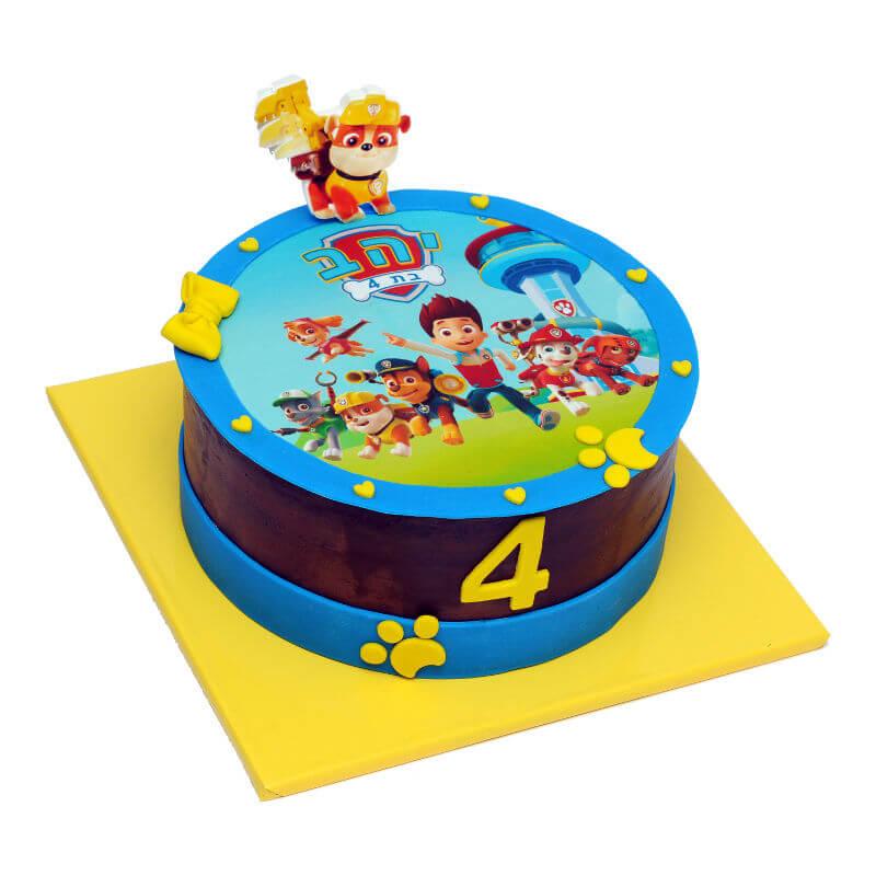 יחידת החילוץ עוגת יום הולדת לבנים