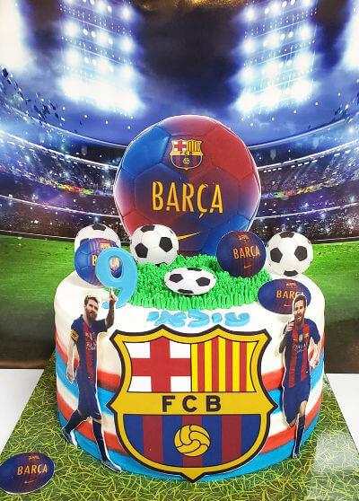 כדורגל עוגת ברצלונה