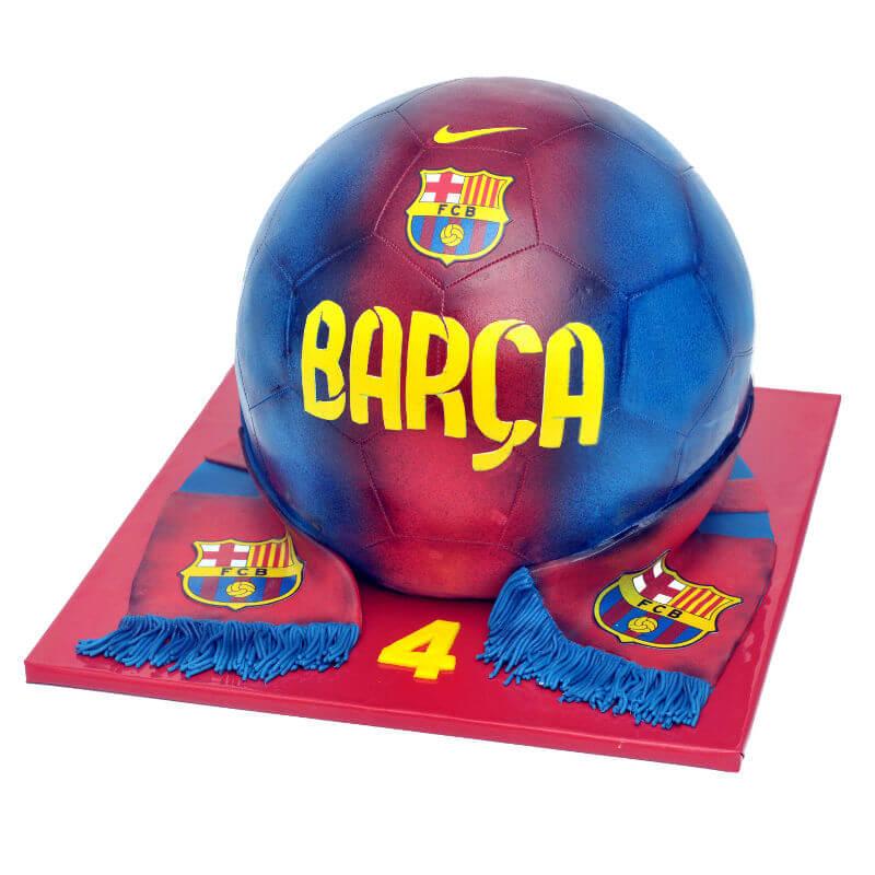 כדורגל עוגת ברצלונה מעוצבת