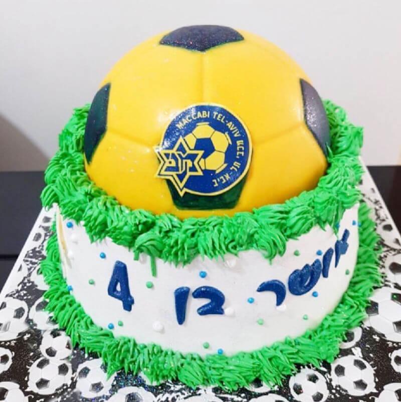 כדורגל עוגת מכבי מעוצבת