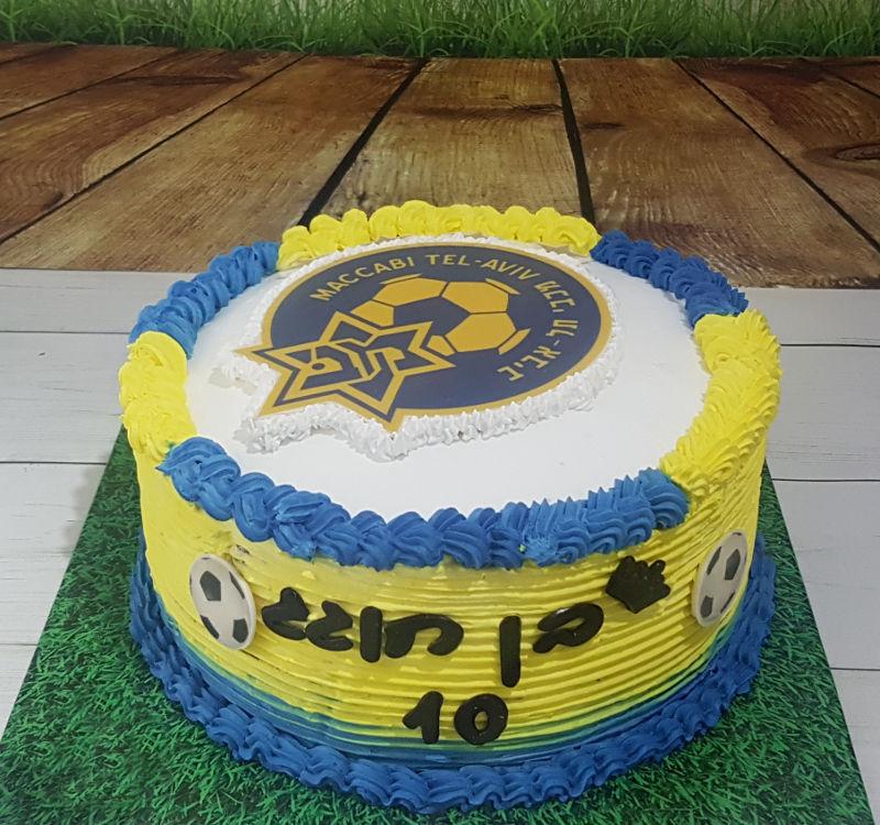 כדורגל עוגת זילוף מכבי תל אביב