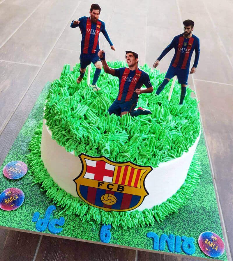 כדורגל עוגת נבחרת ברצלונה