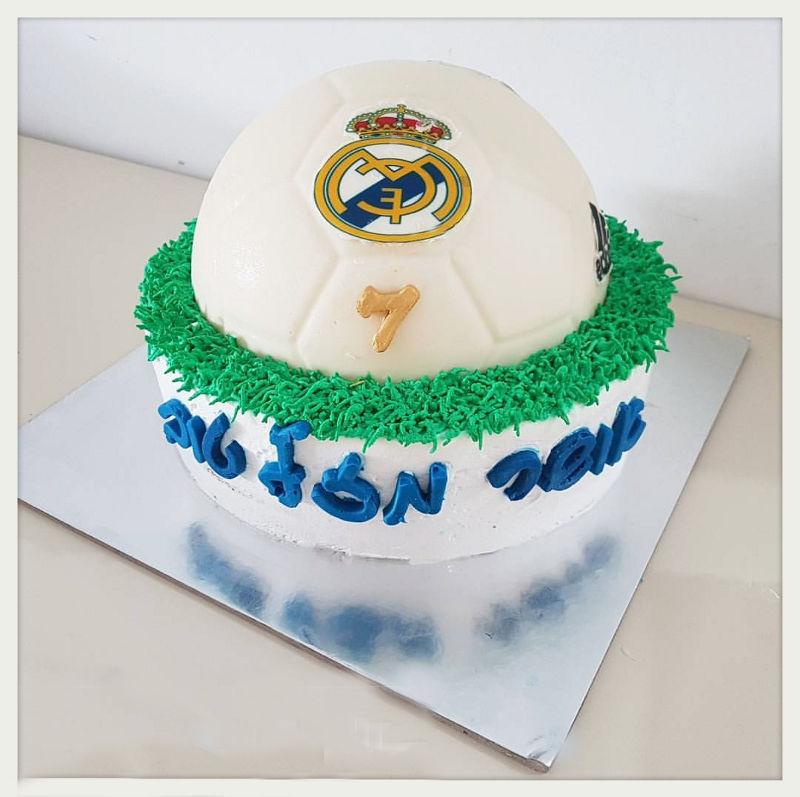 כדורגל עוגת ריאל מדריד ליום הולדת