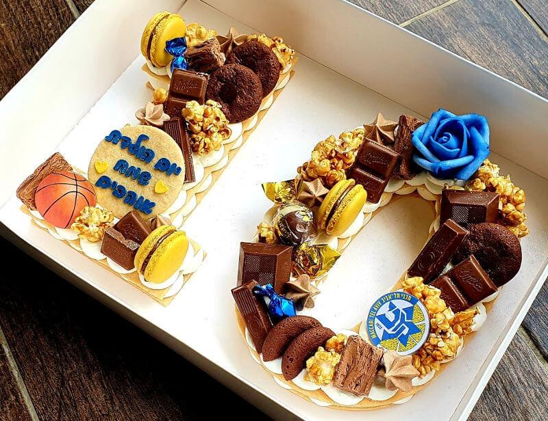 עוגת כדורסל ליום הולדת מכבי תל אביב