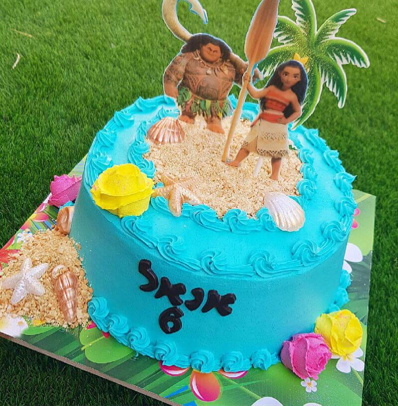 מואנה עוגת זילוף מעוצבת