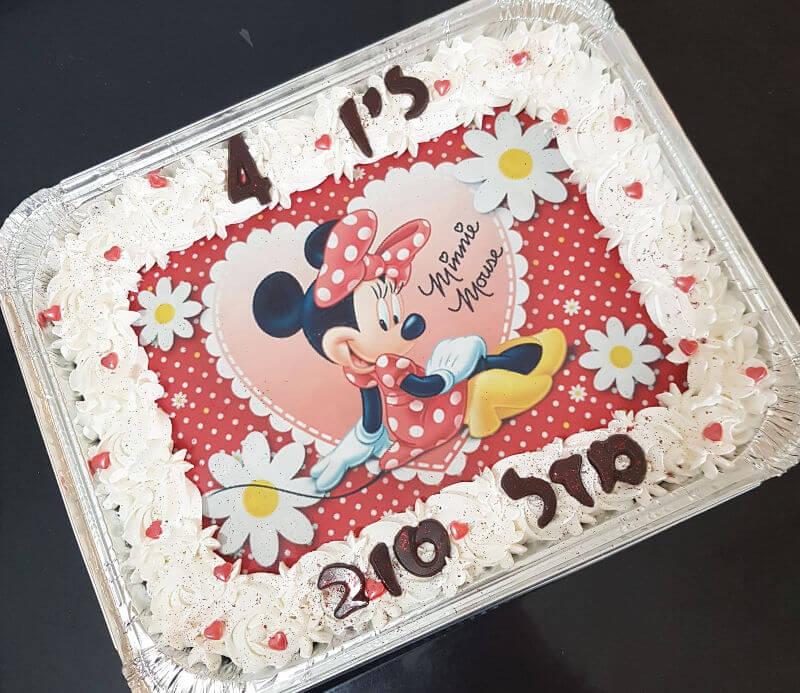 מיני מאוס עוגה מעוצבת מלבנית לגן