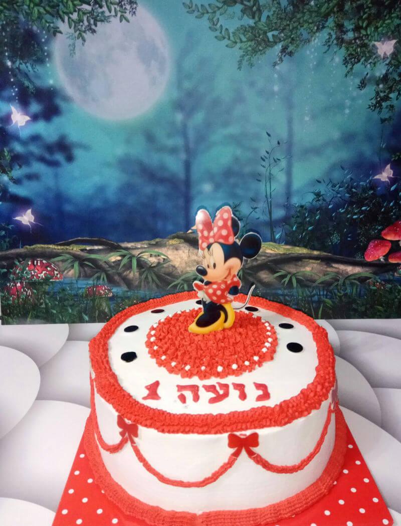 מיני מאוס עוגת זילוף מעוצבת