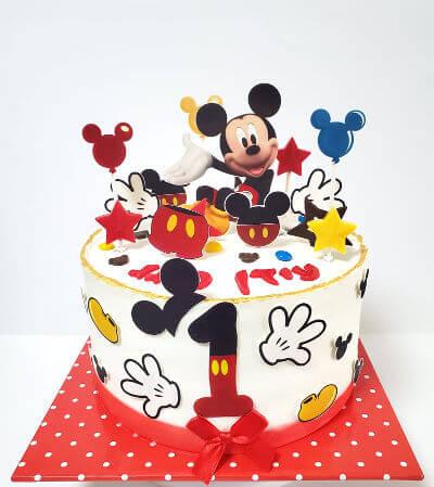מיקי מאוס עוגה מעוצבת לגיל שנה