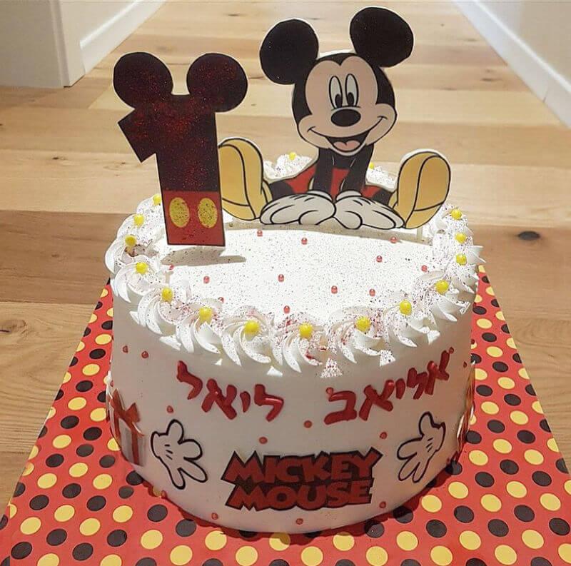 מיקי מאוס עוגה לגיל שנה