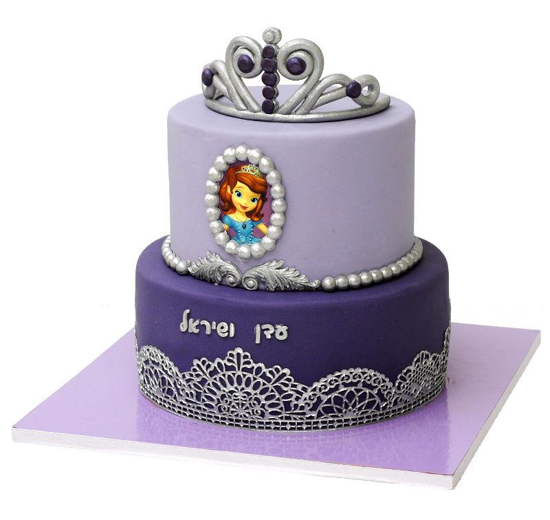 הנסיכה סופיה עוגת יום הולדת לבנות