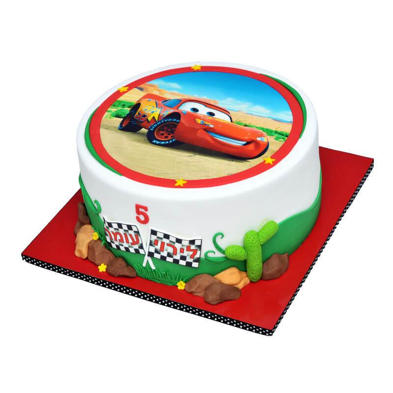 ספידי עוגה ליום הולדת מכוניות