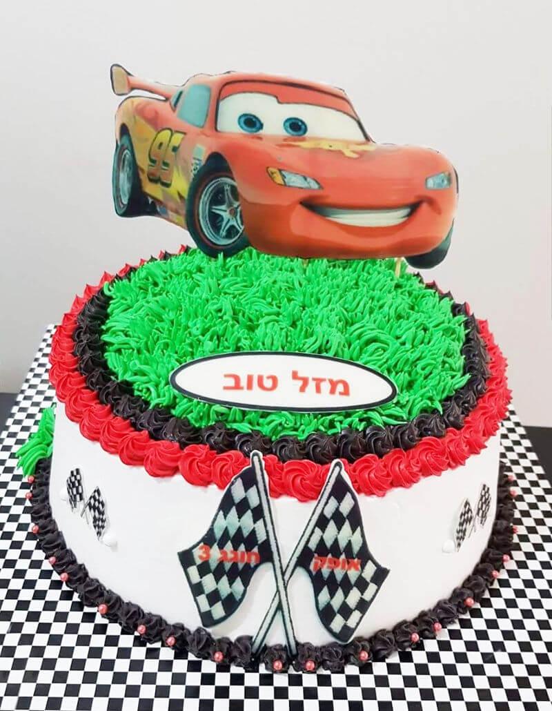 ספידי עוגת זילוף מעוצבת מכוניות