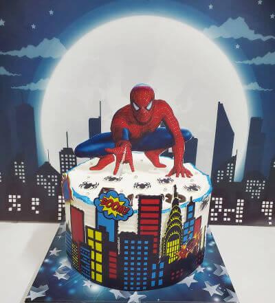 ספיידרמן עוגה מעוצבת
