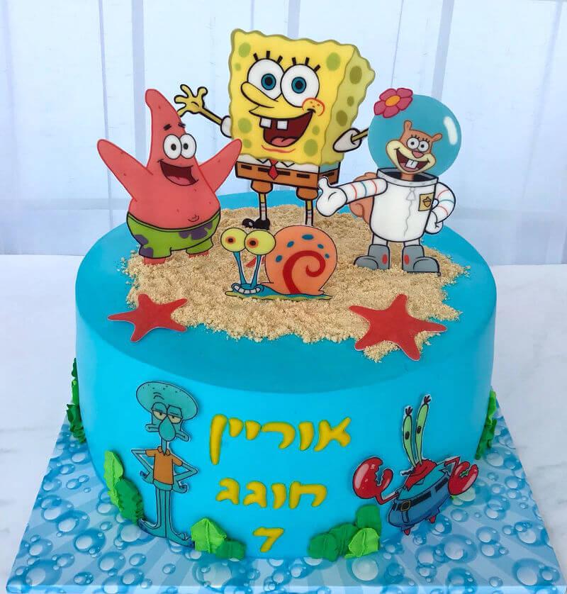 עוגת בוב ספוג ליום הולדת