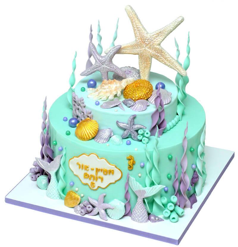 עוגת יום הולדת בעיצוב בת הים