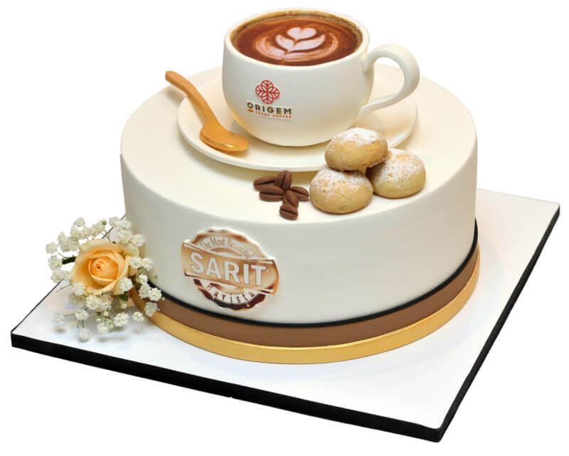 עוגה מיוחדת בעיצוב קפה