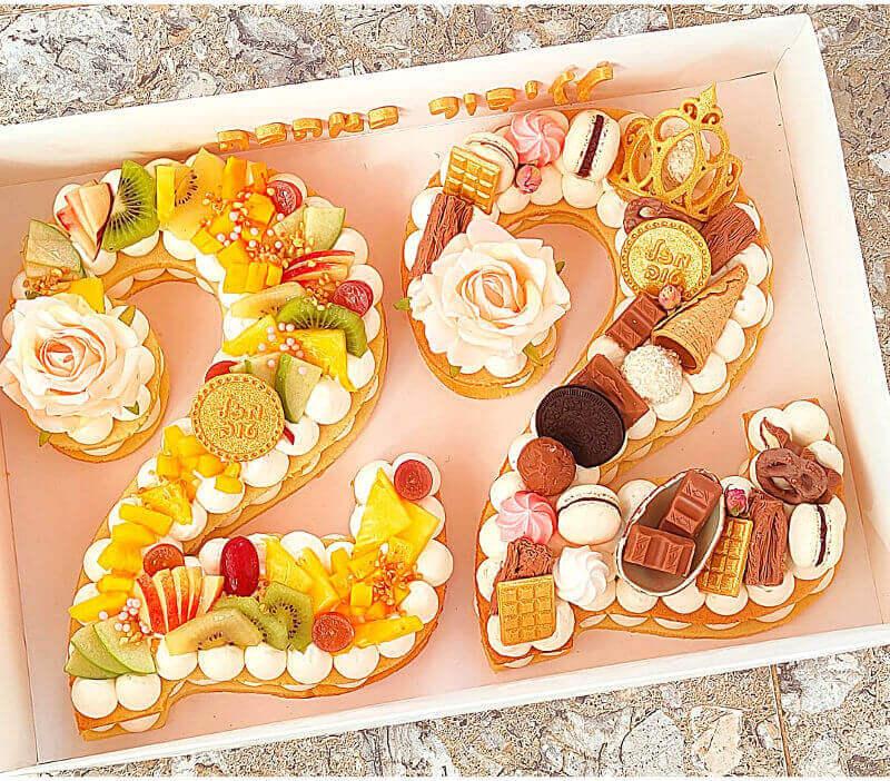 עוגה בצורת מספר ליום הולדת