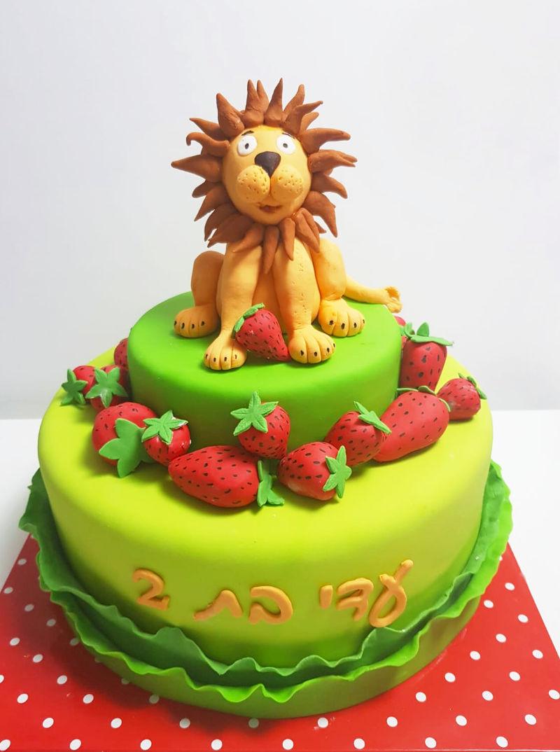 עוגה האריה שאהב תות