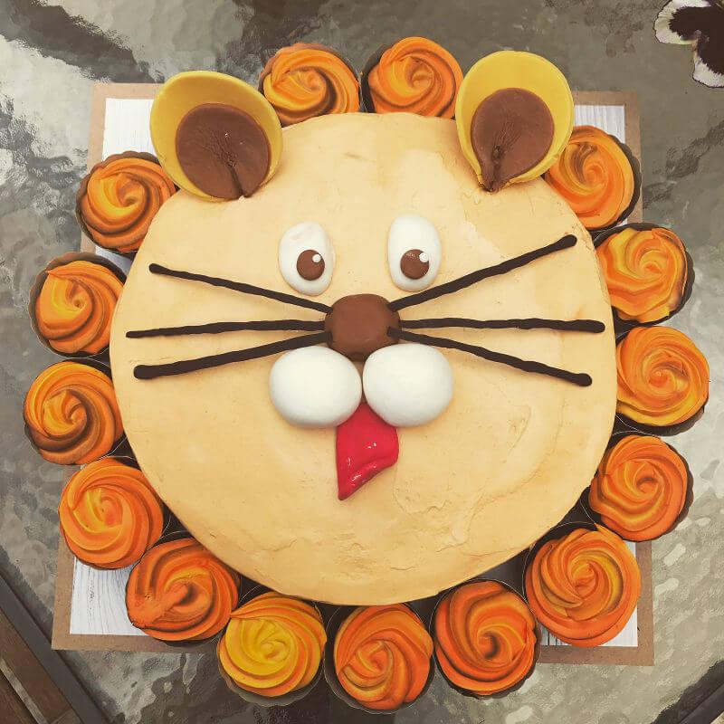 עוגת קאפקייקס אריה