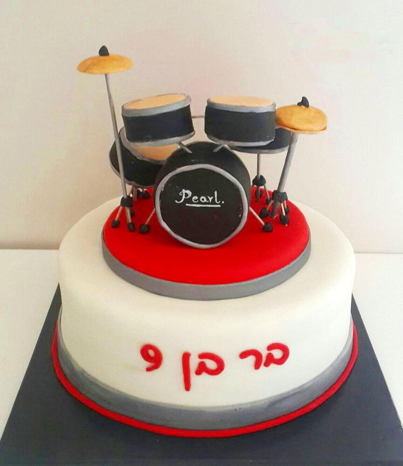עוגת יום הולדת תופים