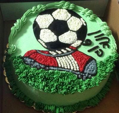 עוגת יום הולדת כדורגל