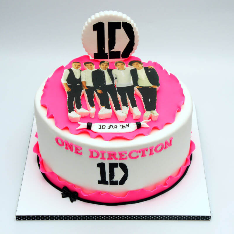 one direction עוגה לבנות בעיצוב