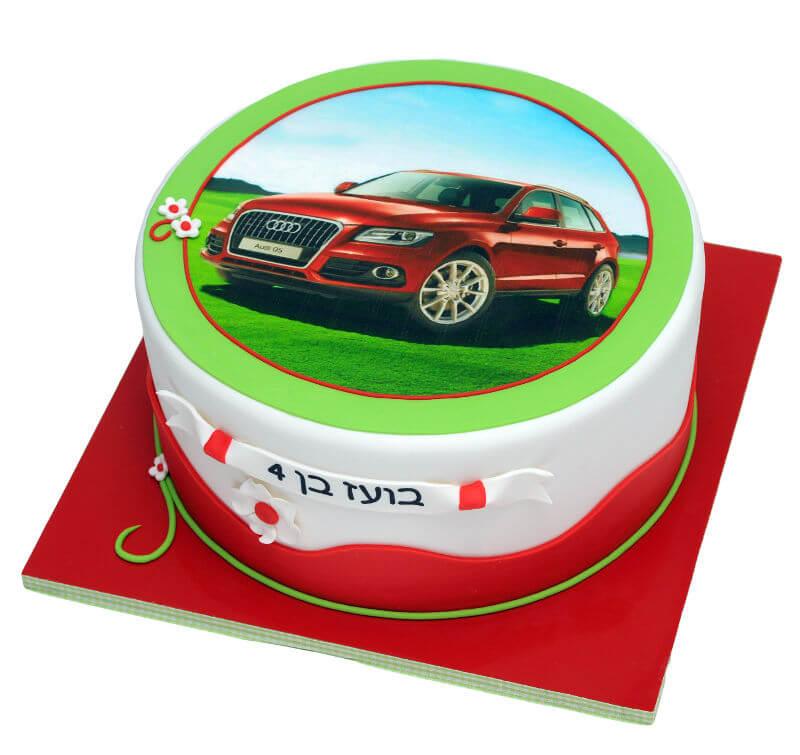 עוגה לבנים מכוניות