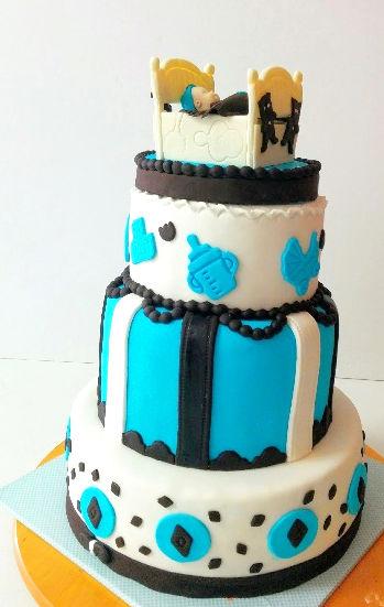 עוגה לברית מבצק סוכר