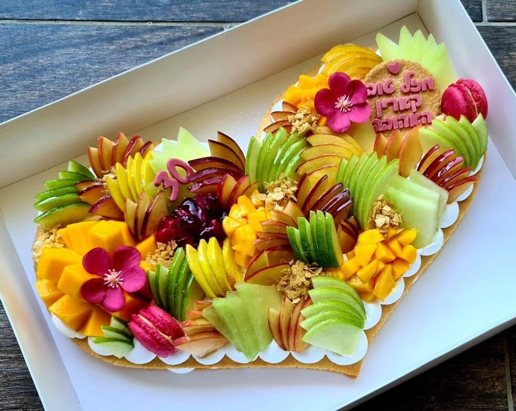 עוגה לב לגיל 30