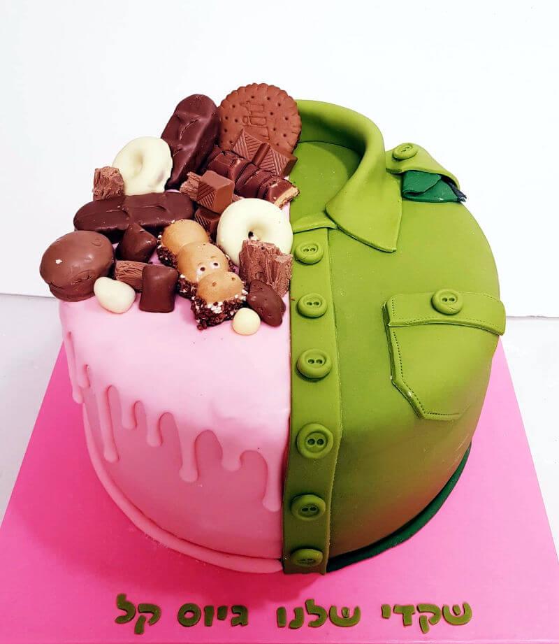 עוגה לגיוס לבת מבצק סוכר