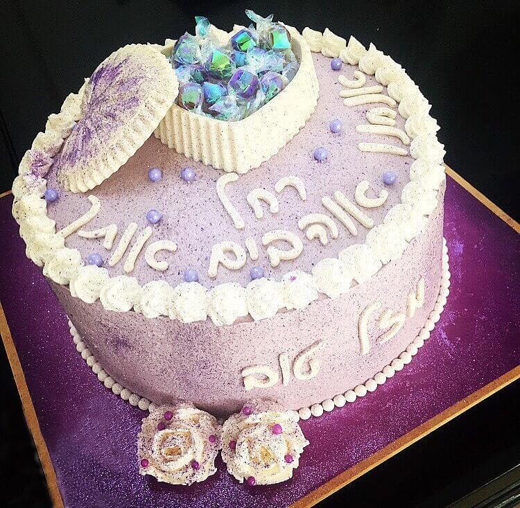 עוגת יום הולדת לב אוצר