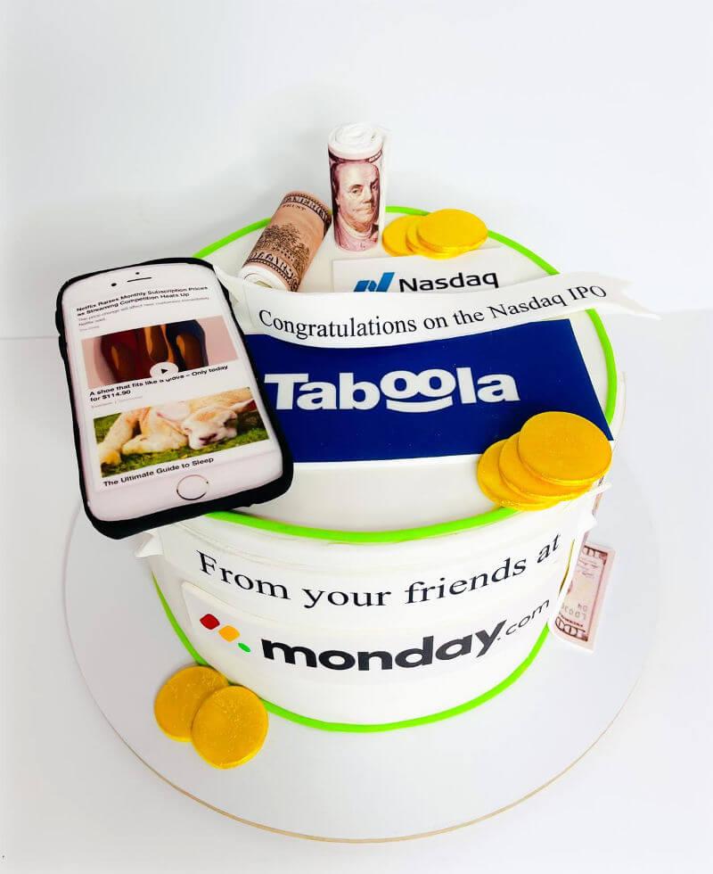 עוגה מעוצבת לעסקים