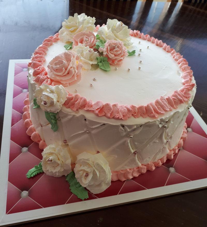 עוגה מזולפת פרחים