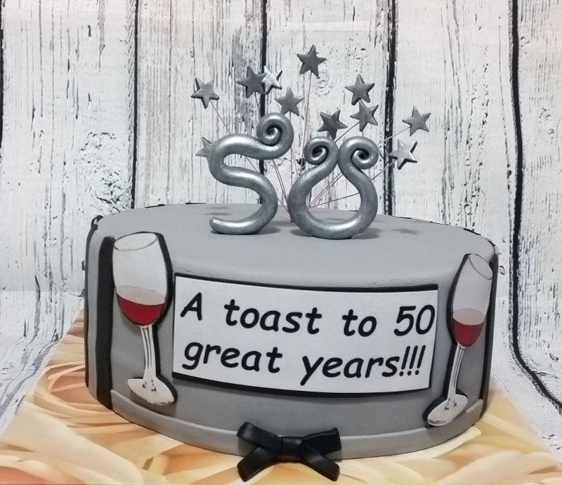 עוגה ל50 שנות נישואין