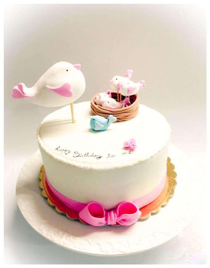 עוגה מבצק סוכר לגוזל